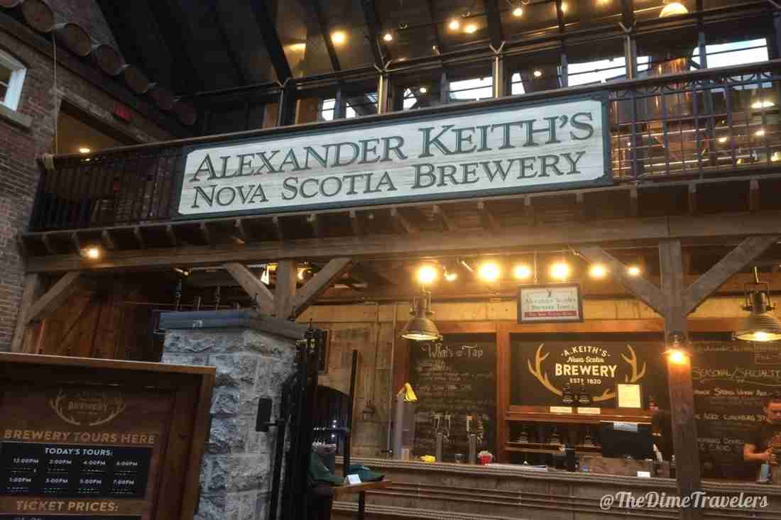 Bar at Alexander Keith's Brewery in Halifax Nova Scotia
