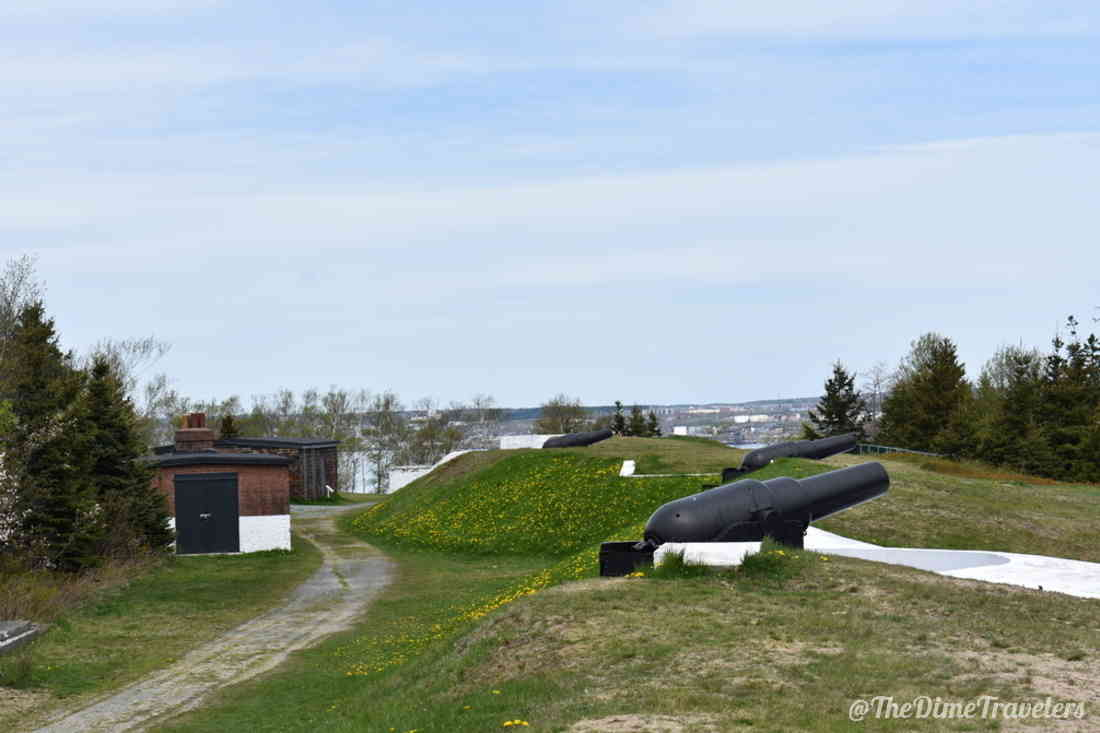 Cannons and view from York Redoubt Halifax Nova Scotia