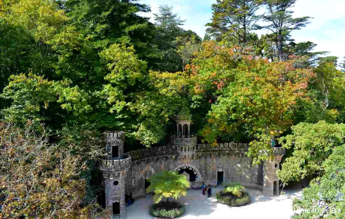 Grounds at Quinta da Regaleira in Sintra, Portugal