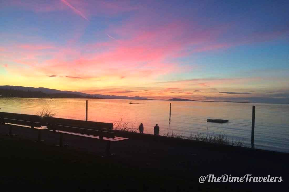 Sunset in Qualicum Beach BC