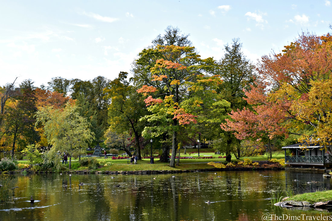 Guide to Halifax things to do in the fall. Halifax Public Gardens with Lake