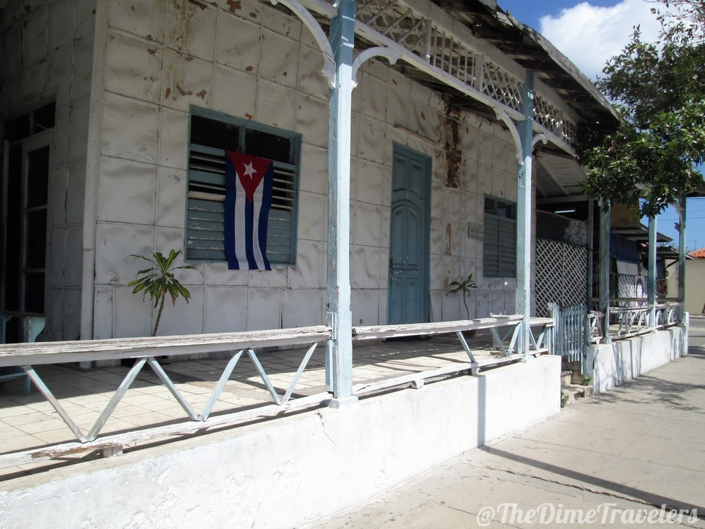 Cuban House seen while traveling in Varadero Cuba