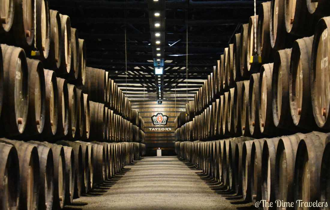 Taylor's Wine Cellars in Porto, Portugal