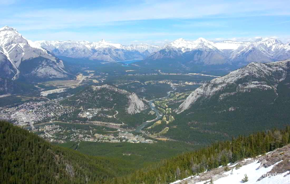 View from top of a mountain in Banff National Park (Canada)