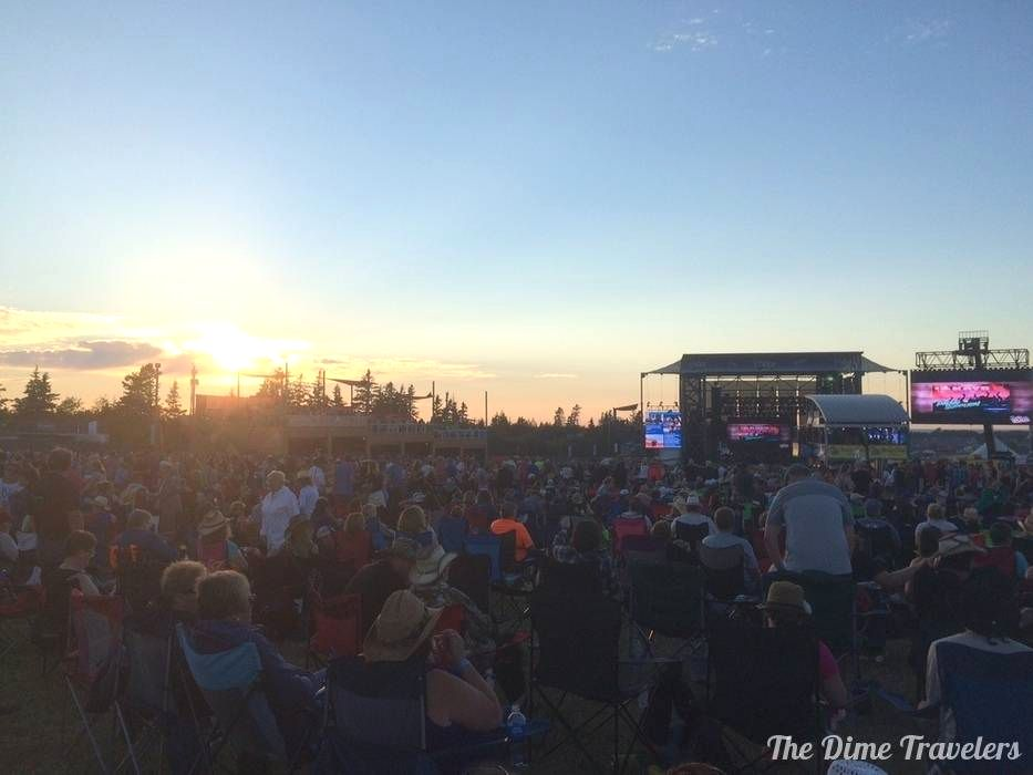 Crowd at Cavendish Beach Music Festival