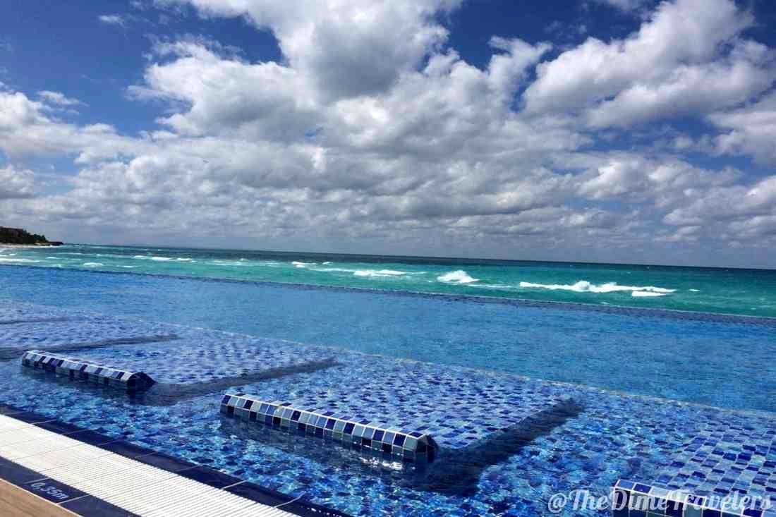 Infinity Pool and ocean at an all inclusive resort in Varadero, Cuba