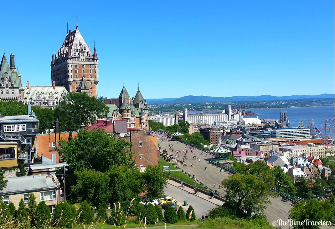Old Quebec City Chateau Frontenac View From Citadelle